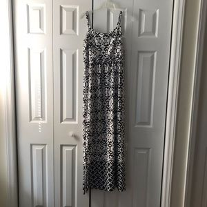 Black and white new directions maxi dress